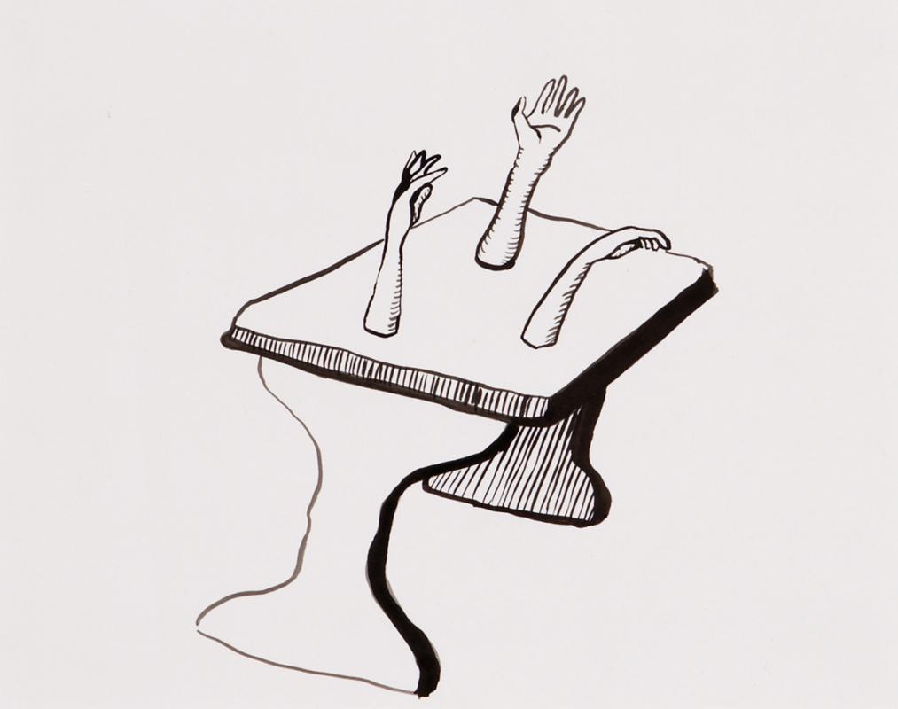 Arms, 26x17 cm, ink, 2000 - Mari Kretz