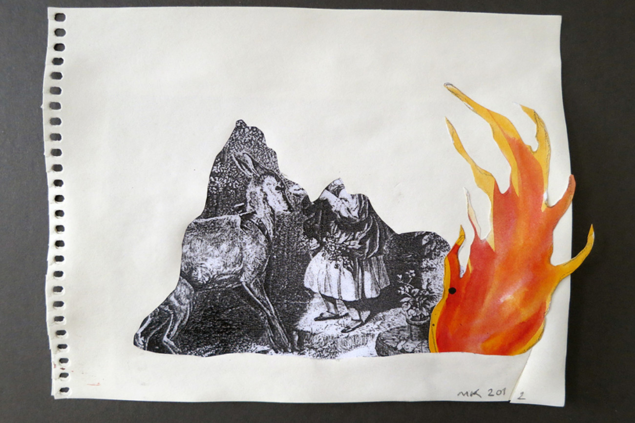 The Flame, 21 x 17 cm, Collage, 2012