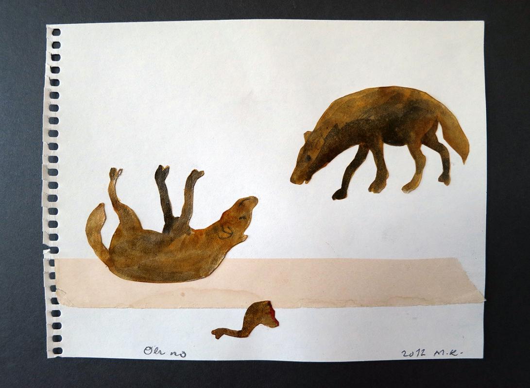 Oh no!, 21x17 cm, collage, 2012 - Mari Kretz