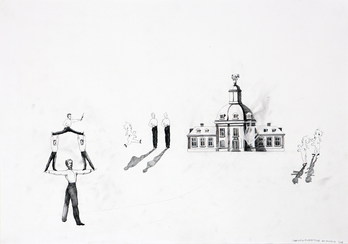 Senckenbergische anatomie, 60x45 cm, drawing, 2008 - Mari Kretz