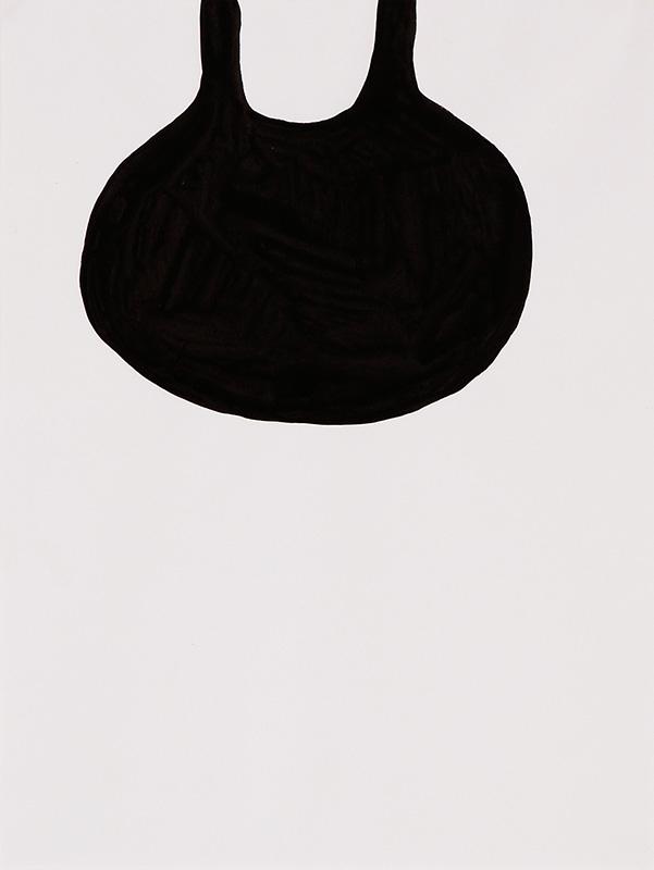 Tear puddle, 17x27 cm, ink, 2000 - Mari Kretz