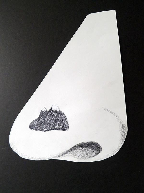 Näsan, 17 x 21 cm, Collage, 2012 - Mari Kretz
