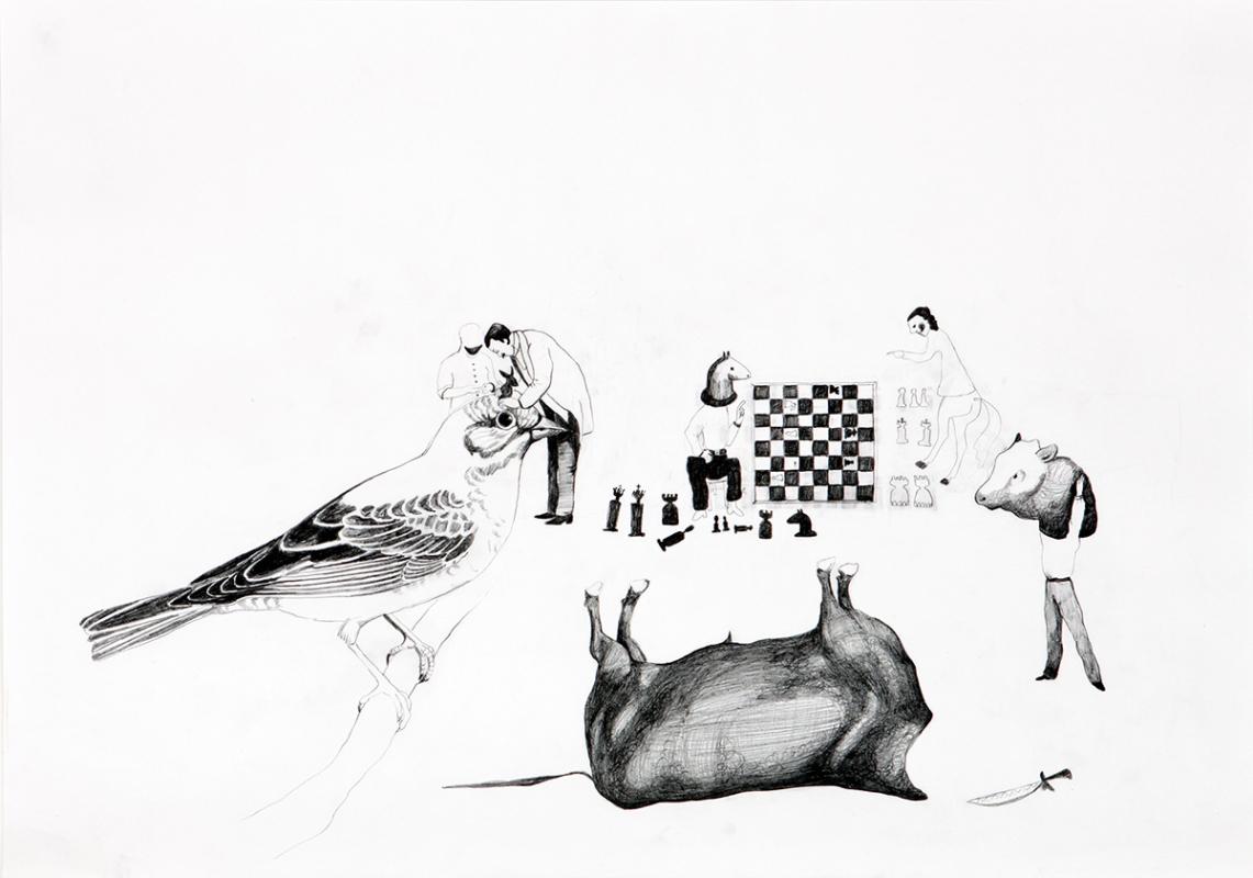Untitled, 60x45 cm, drawing, 2008 - Mari Kretz