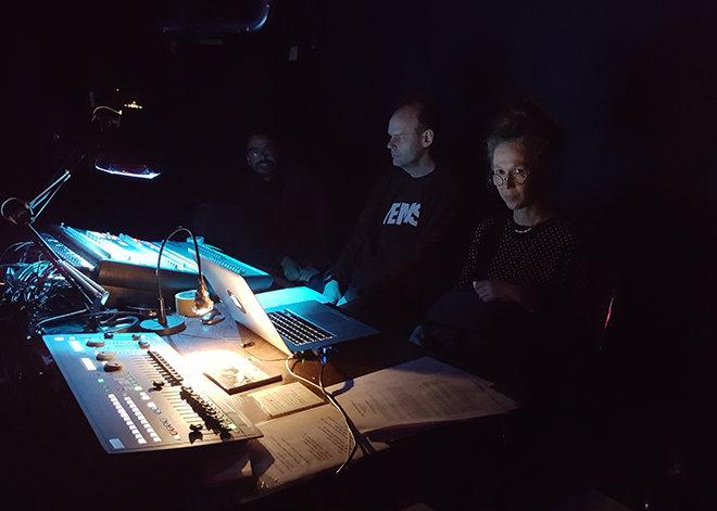Fabio, Magnus, Helene under Kulturnatta 2017