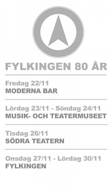 Fylkingen 80 years anniversary