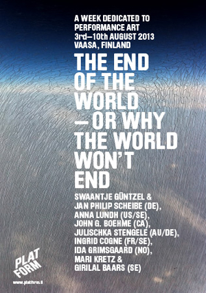 "Platform poster ""The End of the World"" - Mari Kretz"