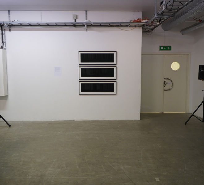 """Sound installation Synoden II and three prints from the serie """"It was the Solar wind that was blowing through your hair at night"""" - Mari Kretz"""