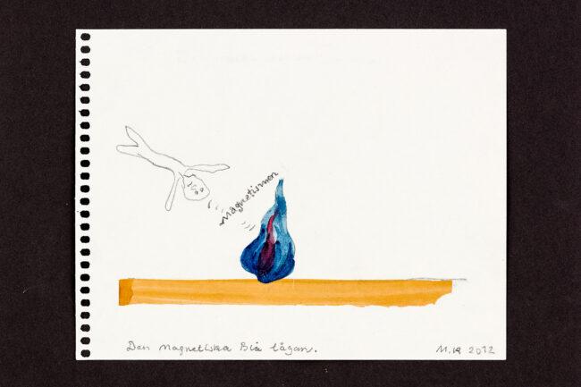 Den Magnetiska Blå lågan, 21 x 17 cm, collage - Mari Kretz